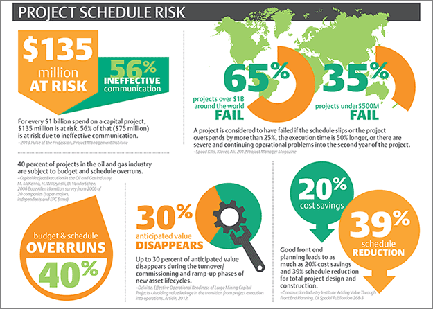 Emerson: Reduce Project Schedule Risks Infographic