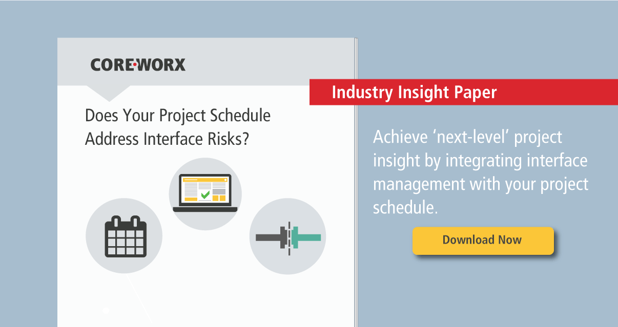 Get Better Project Insight by Integrating Interfaces with Your Project Schedule